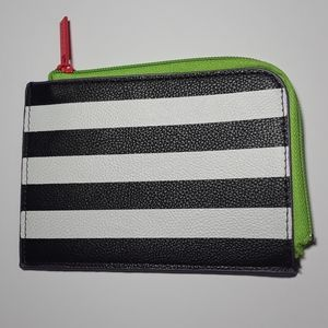 Sephora Square Stripe Colorful Zipper Wallet
